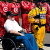 Papa on starting grid with Target Chip Ganassi