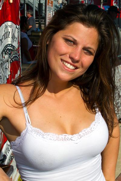 Bright, beautiful, pleasant, Fanzone Bud Girl at 2011 Daytona 500