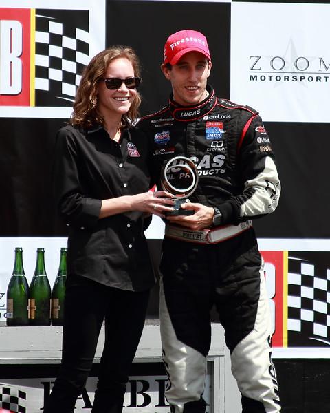 Firestone Indy Lights Driver Esteban Guerrieri placed third at Barber Esteban Guerrieri