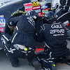 Hornaday's Pit Crew Tire Change During Mountain Dew 250.