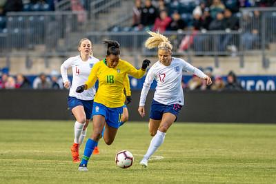 2019 She Believes Cup: Brazil vs. England Feb. 27
