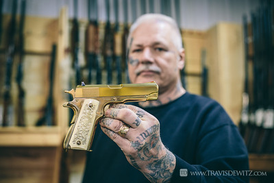 Chicago Bobs Gun Shop - Augusta WI - Gold Plated Pistol