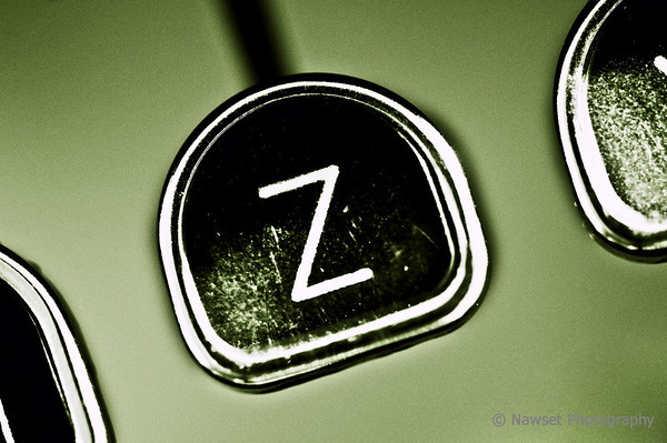 """Z"" Is For Zed (Day 360)<br /> <br /> ""Zed's dead, baby.  Zed's dead.""<br /> <br /> Macro of the Z key on Rita's vintage Royal Quiet De Luxe; one of Hemingway's favorites.<br /> <br /> If you don't know the quote: Google and then Netflix it; you owe it to yourself. Trust me.<br /> <br /> And that concludes my alphabet mini-assignment.  Hope you enjoyed it.<br /> <br /> (2009-12-30 2:03pm)"