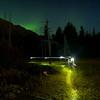 Headlamp and Northern Lights