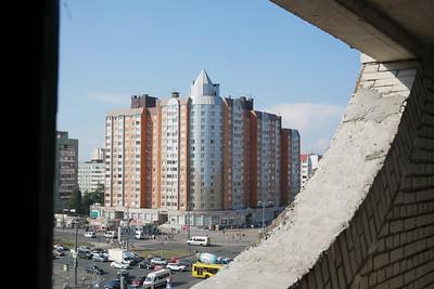 Вид с площадки 9-го этажа