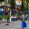 Street performance in Kiev