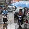 Rainy street. Pattaya