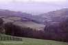 Magnificent far reaching countryside views from the terrace down the valley towards the Brecon Beacons.