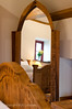 An impressive full height mirror in antique pine frame.