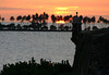 Sunset across the garita along the City Walll - across the mouth of San Juan Bay - to the coconut palms upon Isle de Cabras