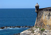 Garita (sheltered sentry outpost) - used to keep visual watch along the wall's edge of El Morro - with the northern naked sky above the Atlantic Ocean beyond