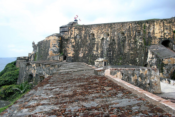 El Castillo San Felipe del Morro - the walls of the fortress are up to 18 ft. (5.5 m) thick