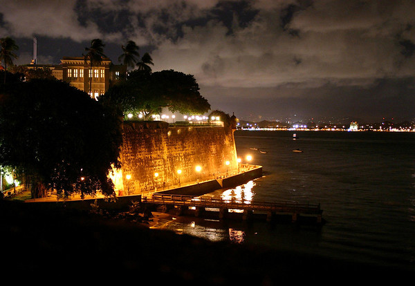 La Fortaleza (Governor's Mansion) - across the San Juan Bay - to the city of Catano