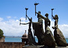 La Rogativa sculpture - in 1797 British ships blockaged the San Juan Bay - many religious women carried torches thru the streets at night, thus the British though reinforcements had arrived and sailed away