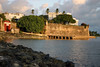 Beyond the Puerto San Juan (gate, built in 1635) in the old San Juan fortress wall - with the La Fortaleza (The Fortress) above, the first fortification built in the San Juan harbor (1534-1540) - today, the oldest Governor's Mansion still used in the Western Hemisphere
