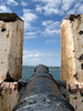 Beyond the canon at El Morro - across the mouth of San Juan Bay - to Fort San Juan del la Cruz, on the Isla de Cabras (Island of Goats)