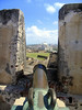Down the cannon at Castillo de San Cristabol (St. Christopher Castle) - to the Capitol Building of Puerto Rico