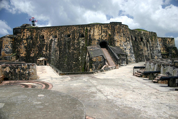 El Morro - a 16th century citadel constructed to protect San Juan from sea attack