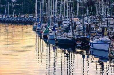 Comox, BC Marina at sunset
