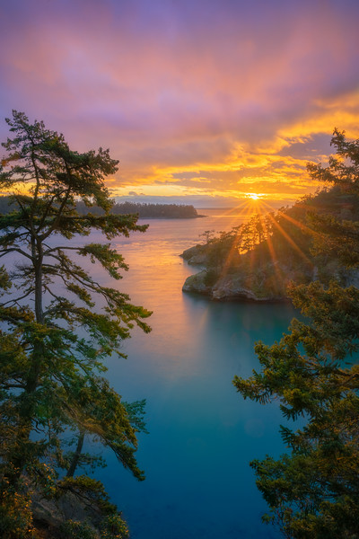 Deception Pass November Sunset
