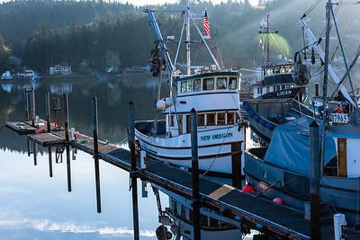 Fishingboats at dawn, Gig Harbor, Washington