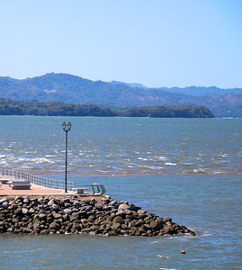 Boardwalk into the ocean in Puntarenas, Costa Rica