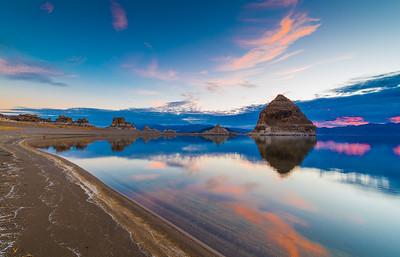 Sunset at Pyramid Lake Reno Nevada