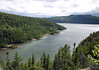 Along the trail to Mont Adela-Lessard - with the Anse a la Barque (a fjord inlet) along the Saguenay River - Saguenay Fjord National Park - Quebec
