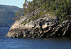 Granite and conifers along the Saguenay Fjord and River, at low-tide - Saguenay Fjord National Park - Quebec