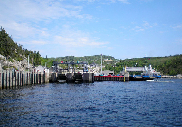 Tadoussac–Baie Sainte Catherine Ferry - into the town of Tadousac, settled in 1600 (the first French settlement in North America) - Quebec