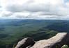 Granite boulders atop the summit of  Mont du Lac des Cygnes (Mount Swan Lake) - Grand Garden National Park - Quebec