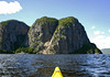 Kayak tip in the Eternity Bay - to Cape Trinity, rising 1.348 ft. (411 m) above the Saguenay River - Saguenay Fjord National Park - Quebec