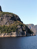 Our Lady of the Saguenay (Statue of Notre Dame du Saguenay) - a 35 ft. (11m) statue perched on the lower terrace of Cap Trinité (Cape Trinity) - Saguenay Fjord National Park - Quebec