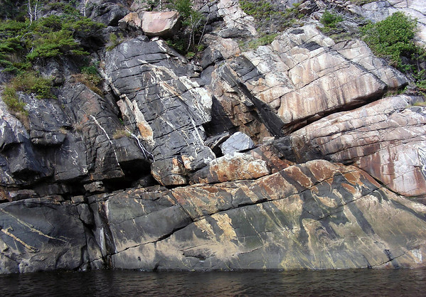 Igneous granite along the shore of the Saguenay River - Quebec