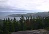 From atop Mont Adela-Lessard - down to the confluence of the Saguenay Fjord and River - with the St. Lawrence River - Saguenay Fjord National Park and the Saguenay-St. Lawrence Marine Park - Quebec