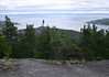 From atop Mont Adela-Lessard - down to the St. Lawrence Estuary, where fresh water from the Saguenay River and salt water from the Gulf of St. Lawrence converge - Saguenay Fjord National Park and the Saguenay-St. Lawrence Marine Park - Quebec