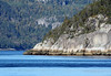 Granite and conifers along the Saguenay Fjord and River, during low-tide - Saguenay Fjord National Park - Quebec