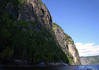 From a sea kayak, in Baie Éternité (Eternity Bay) - up the granite wall of Cap Trinité (Cape Trinity) - Saguenay Fjord National Park - Quebec