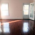 Living room and door to deck.