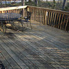 Shaded deck catches morning sun.