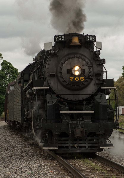 NKP 765 waiting the return trip from Bellevue, Ohio