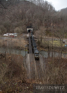 Norfolk Southern 9428 blasts out of the Hemphill Tunnel #2 in Welch, West Virginia.
