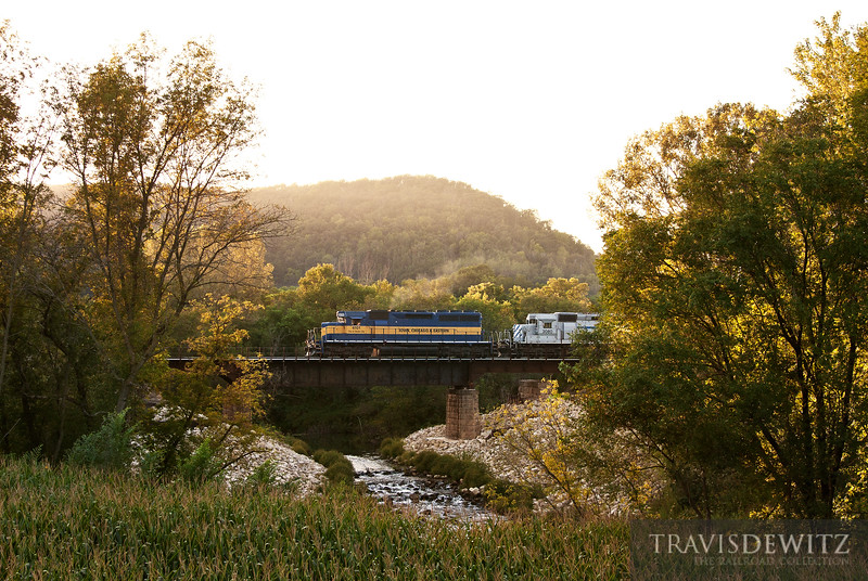 """Iowa, Chicago, and Eastern 6101 heads out of Minnesota City west towards Stockton, MN.  Travis Dewitz <a href=""""http://www.therailroadcollection.com/latest-works/"""" target=""""_blank"""">The Railroad Collection</a>"""