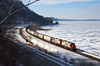 "The St. Paul local has a gorgeous matched set of Soo power heading down the frozen Mississippi River at Maple Springs, Minnesota.  Travis Dewitz <a href=""http://www.therailroadcollection.com/latest-works/"" target=""_blank"">The Railroad Collection</a>"
