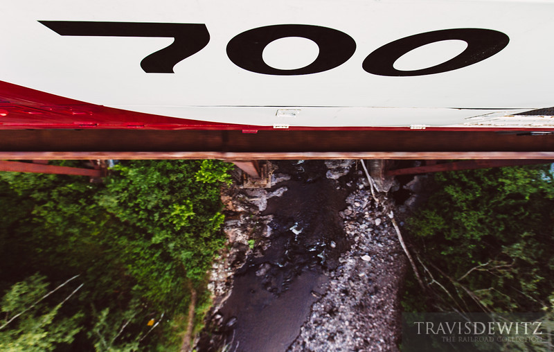 Soo Line 700 crosses the Sucker River before it empties into Lake Superior between Duluth and Two Harbour. This ex-Duluth, Missabe and Iron Range Railway bridge was also in the 1994 movie Iron Will.