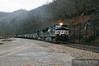 Norfolk Southern 9000 leads a coal train east towards Maybeury, West Virginia.