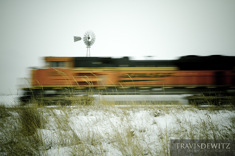 The winds are blowing across the Powder River Basin as coal trains move through one after another.