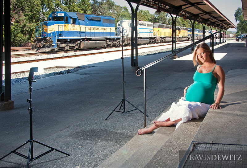"""Behind the scenes of my photoshoot with Taber, at the Amtrak depot in La Crosse, WI.  Travis Dewitz <a href=""""http://www.therailroadcollection.com/latest-works/"""" target=""""_blank"""">The Railroad Collection</a>"""