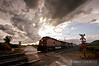 "A BNSF Z train races down the St. Croix Sub just south of Alma, Wisconsin as a thunderstorm disapates overhead.  Travis Dewitz <a href=""http://www.therailroadcollection.com/latest-works/"" target=""_blank"">The Railroad Collection</a>"