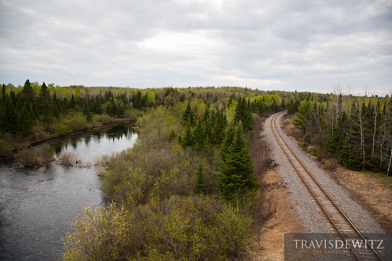 Ex-Soo Line trackage that curves along the edge of the Bad River in Northern Wisconsin just north of Glidden. These tracks still carry Canadian National trains mainly for the lumber and paper industries.